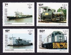 Zaire Transport 4v SG#1258-1261