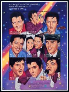 [95107] Antigua & Barbuda 1995 Music Elvis Presley Sheet MNH