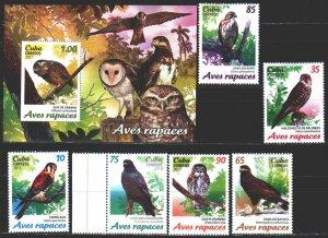 Cuba. 2017. 6196-6201, bl245. Birds of cuba owl. MNH.