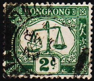 Hong Kong. 1923 2c S.G.D2a Fine Used
