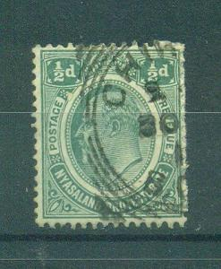Nyasaland Protectorate sc# 2 used cat val $2.25