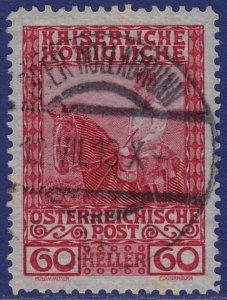 Austria - 1908 - Scott #122 - used - OBER HOLLABRUNN pmk