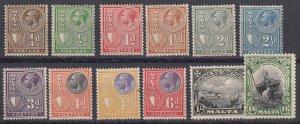 Malta Sc 131-142 (SG 157-167), MLH (mostly), part set