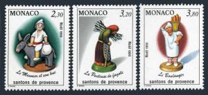 Monaco 1737-1739,MNH.Michel 1984-1986. Christmas 1990:Figurines from Provence.