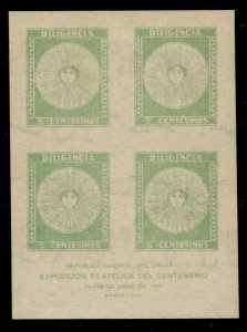 Uruguay - Mint Miniature Sheet of 4 Scott #413a (Stamp on Stamp)