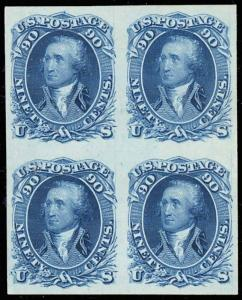 72P3, XF-Superb Plate Proof on India BLOCK OF 4