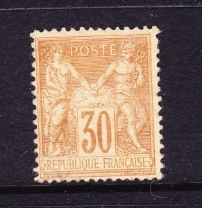 FRANCE 1876-85  30c  YELLOW BROWN  P&C  MLH  Sg 237  Sc 82a