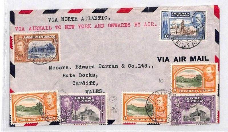 BN142 1939 Trinidad and Tobago Airmail Cover PTS