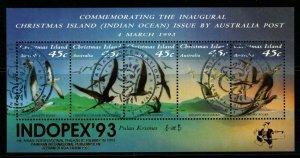 CHRISTMAS ISLAND SGMS377 1992 SEA BIRDS O/P INDOPEX FINE USED