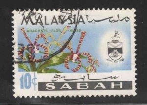Malaysa Sabah  Scott 21 Used