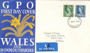 Great Britain Regionals Scott Wales 4-5 Typewritten Address.