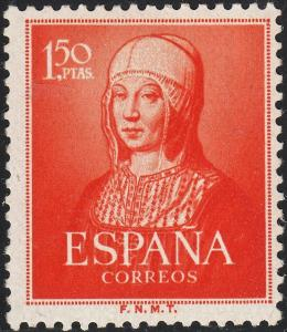 Spain 1951 1p.50 5th Centenary of Birth of Isabella MH