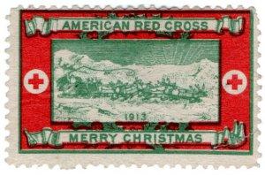 (I.B) US Cinderella : Red Cross Christmas Seal (1913)