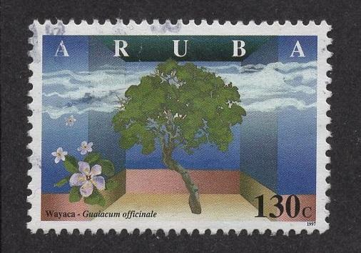 Aruba   #157   used  1997  wild flowers 130c