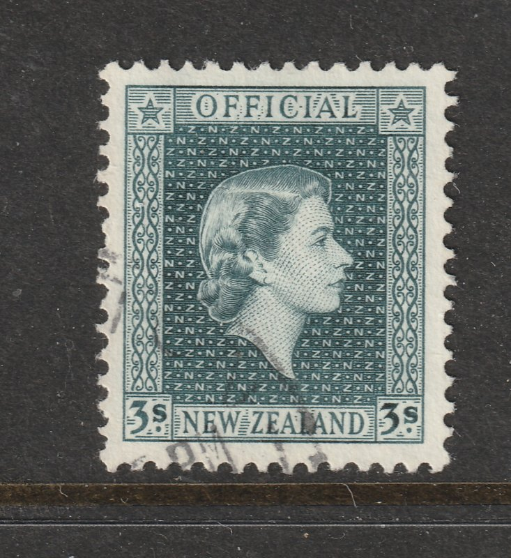New Zealand a used QE2 3/- Official from the 1954 set