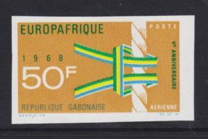 Gabon Sc C67v MNH. 1968 50f EuropAfrique imperf single