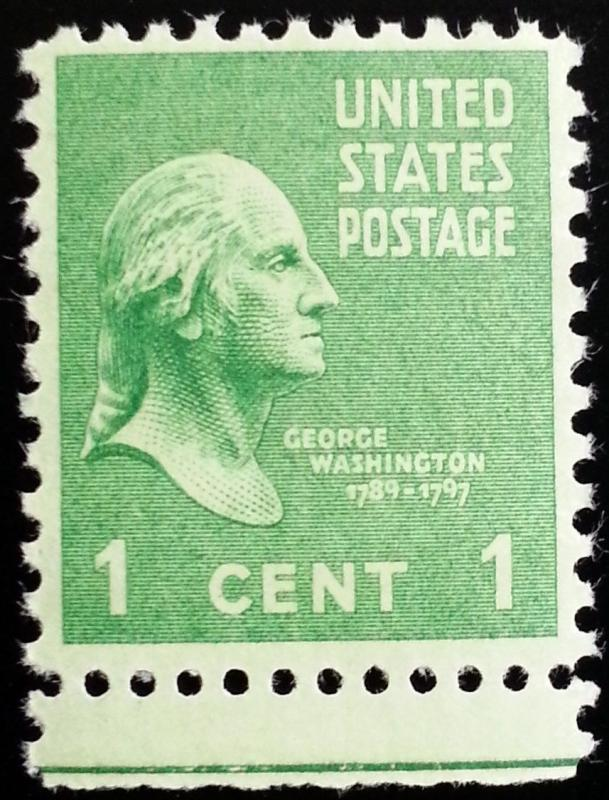 1938 1c George Washington First President Scott 804 Mint F VF NH