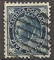 Canada   79 Used 1898 5c blue, bluish.Victoria Definitive