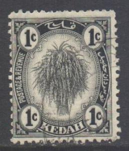 Malaya Kedah Scott 24 - SG52, 1922 Sheaf of Rice 1c used