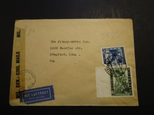 Austria Post WWII Censor Cover to USA / Light Creases / Tears (X) - Z3717