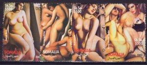 Somalia 2002 TAMARA DE LEMPICKA NUDES PAINTINGS Set (4) Perforated MNH