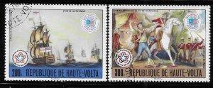 Upper Volta 1976 American Bicentennial Sc C242-243 Used A1257