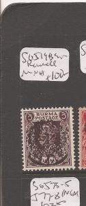 Burma Japanese Oc SG J19b signed Rowell MNH (6cfp)