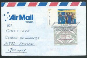 AUSTRALIA 1994 cover to Germany - nice franking - Sydney Monorail pmk......53495