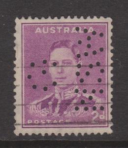 Australia Sc#182b Used G NSW Perfin