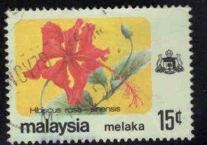Malaysia Malacca Scott 85 Used Flower stamp
