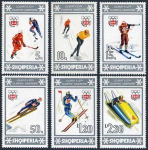 Albania 1719-1724,1725,MNH.Michel 1838-1841,Bl.59.Olympics Innsbruck-1976.Hockey