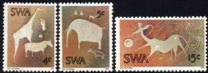 SWA - 1974 Twyfelfontein Rock Paintings Set MNH** SG 264-266