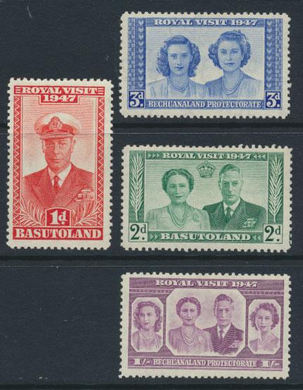 Basutoland SG 32 / 35 set  Mint Hinged - Royal Visit