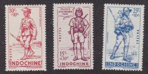 Indo-China # B19A-C, Legionairres, Hinged, 1/2 Cat.