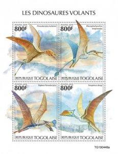 TOGO - 2019 - Flying Dinosaurs - Perf 4v Sheet  - M N H