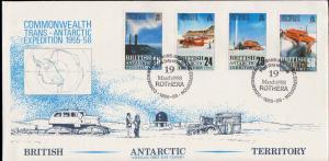British Antarctic Territory Scott 145-148 Unaddressed.
