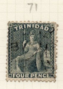 Trinidad 1860s Early Issue Fine Used 4d. 284509
