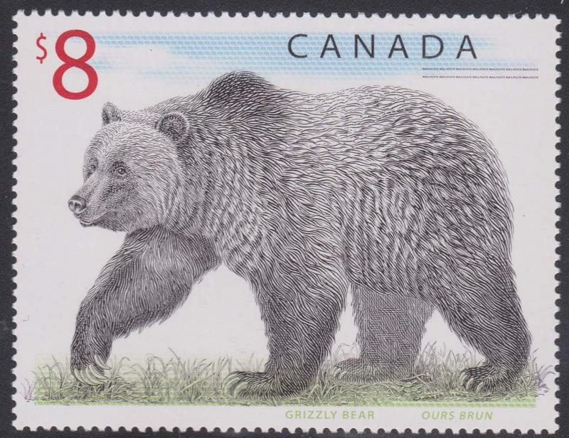Canada - 1997 $8 Grizzly Bear mint #1694