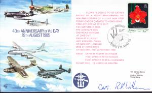 1985 British RAF Special VJ Day Flight. Signed Cover