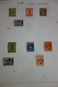 Fiume Stamps mint & used Early 1900's on album pages Clean