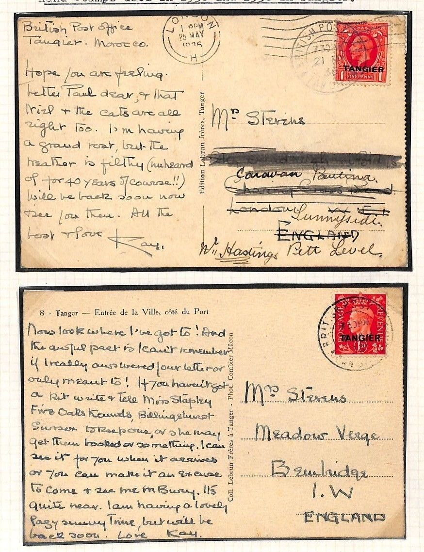AG149 1936-1938 Morocco Agencies *TANGIER* GB Overprint Issues