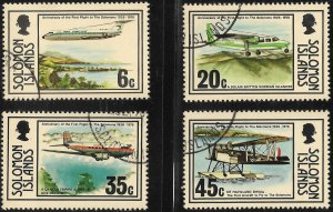 [12605] Solomon Islands # 341 - 44 Used