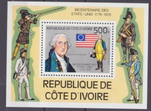1976 Ivory Coast Cote d'Ivoire 502/B6 200 years of independence for America
