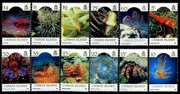 HERRICKSTAMP CAYMAN ISLANDS Sc.# 562-73 1986 Marine Life