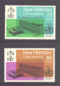 Vanuatu New Hebrides Scott 118/119 - SG120/121, 1966 WHO Set MH*