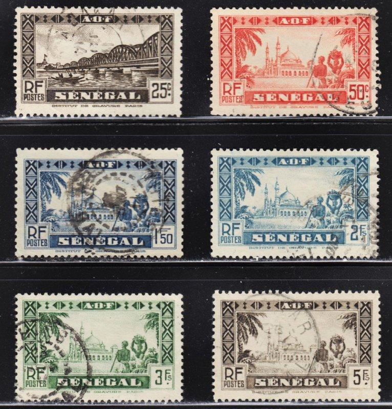 Senegal Scott 150, 154, 164, 167-69 F to VF used.