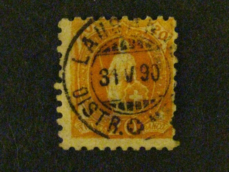 Switzerland #89 used pulled perf at right c204 604