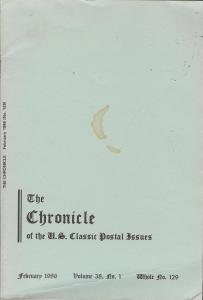 The Chronicle of the U.S. Classic Issues, Chronicle No. 129