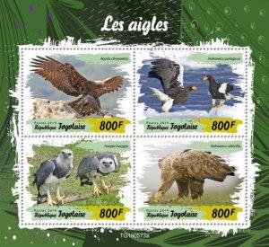 TOGO - 2019 - Birds : Eagles - Perf 4v Sheet - M N H