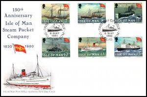 Isle of Man 168-173 Ships U/A FDC
